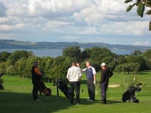 Schottland Golfer